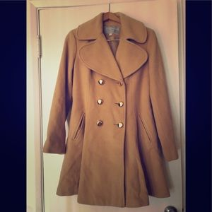Jessica Simpson Wool Trench Coat-Tan